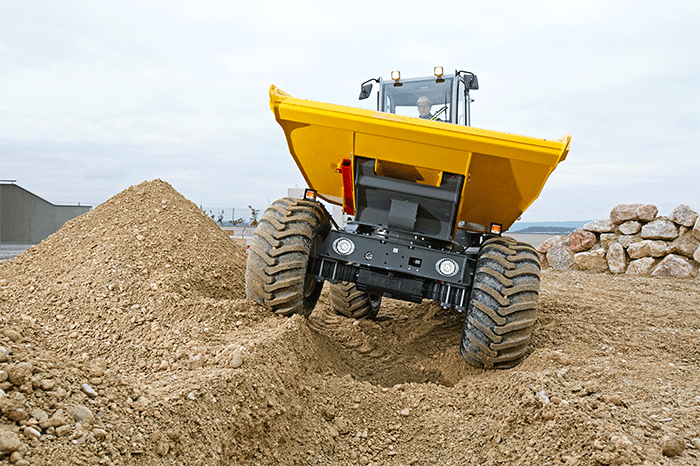 wheel dumper DW90 in action