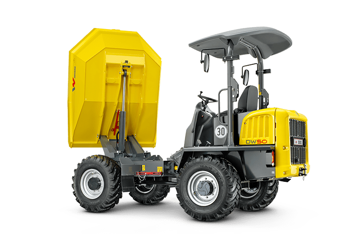 wheel dumper dw50 with tilted bucket back