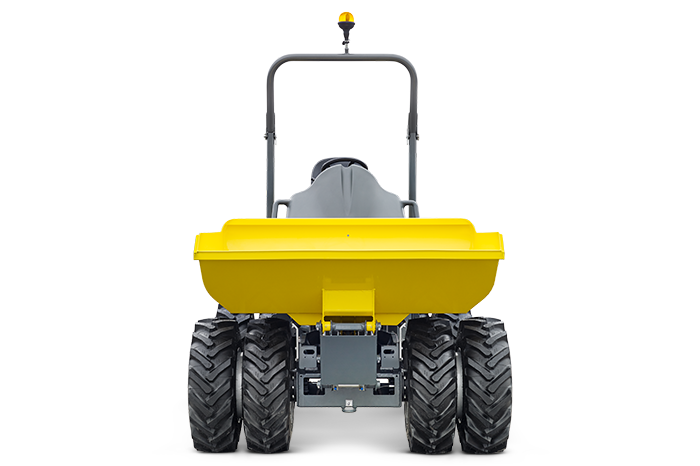 dumper 1001 with optional twin tires and lightweight / high tip skip