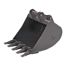 Excavator attachment tools - Heavy Duty Digging Bucket with Hensley Teeth (40mm)