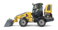 Wacker Neuson telescopic wheel loader WL60T with earth bucket studio view 5