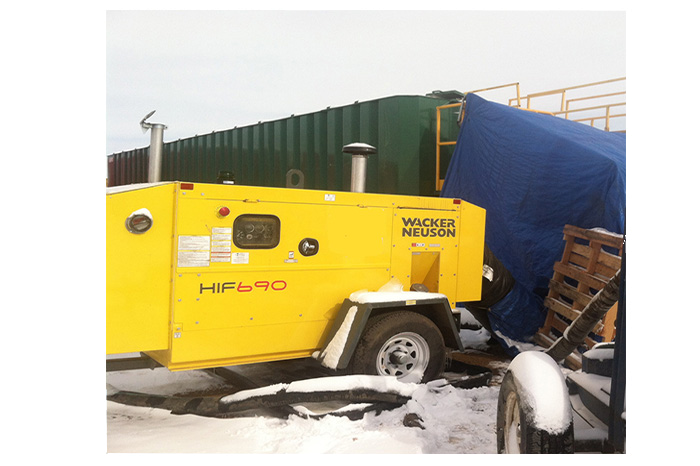 HIF690 Flameless Air Heater for Safe Heat on Oil and Gas Site