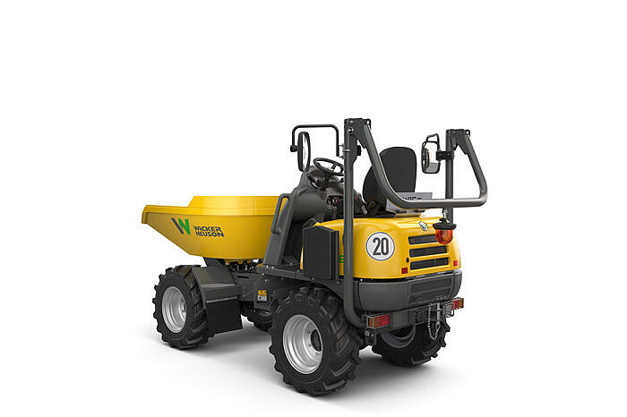 Electric Wheel Dumper DW15e ROPS down