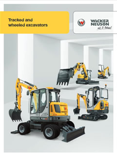 Wacker Neuson Excavators brochure