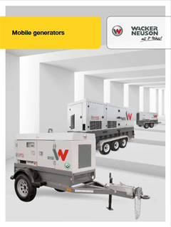 Wacker Neuson Mobile Generators Brochure